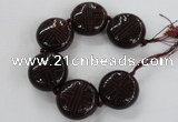 CCJ361 35mm carved coin China jade beads wholesale