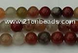 CCJ450 15.5 inches 4mm round colorful jasper beads wholesale