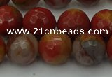 CCJ464 15.5 inches 12mm faceted round colorful jasper beads