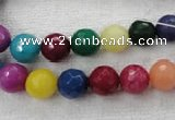 CCN1002 15.5 inches 6mm faceted round multi colored candy jade beads