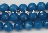 CCN1203 15.5 inches 10mm faceted round candy jade beads wholesale