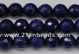 CCN1214 15.5 inches 10mm faceted round candy jade beads wholesale