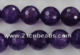 CCN1256 15.5 inches 14mm faceted round candy jade beads wholesale