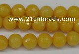 CCN1274 15.5 inches 10mm faceted round candy jade beads wholesale