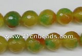 CCN1295 15.5 inches 12mm faceted round rainbow candy jade beads