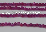 CCN1310 15.5 inches 3mm faceted round candy jade beads wholesale