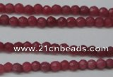 CCN1315 15.5 inches 3mm faceted round candy jade beads wholesale
