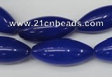 CCN133 15.5 inches 10*25mm rice candy jade beads wholesale