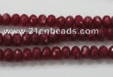 CCN1352 15.5 inches 4*6mm faceted rondelle candy jade beads