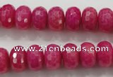 CCN1365 15.5 inches 8*12mm faceted rondelle candy jade beads