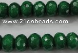 CCN1415 15.5 inches 8*12mm faceted rondelle candy jade beads