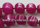 CCN1530 15.5 inches 8*8mm - 20*20mm pumpkin candy jade beads