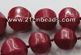 CCN1531 15.5 inches 8*8mm - 20*20mm pumpkin candy jade beads