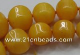 CCN1532 15.5 inches 8*8mm - 20*20mm pumpkin candy jade beads