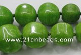 CCN1533 15.5 inches 8*8mm - 20*20mm pumpkin candy jade beads