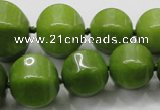 CCN1534 15.5 inches 8*8mm - 20*20mm pumpkin candy jade beads