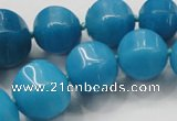 CCN1535 15.5 inches 8*8mm - 20*20mm pumpkin candy jade beads