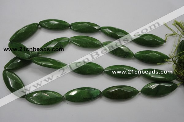 CCN1550 15.5 inches 15*40mm faceted marquise candy jade beads