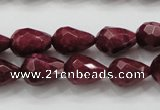 CCN1675 15.5 inches 10*14mm faceted teardrop candy jade beads wholesale