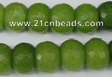 CCN171 15.5 inches 12*16mm faceted rondelle candy jade beads