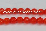 CCN1951 15 inches 6mm faceted round candy jade beads wholesale