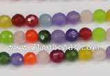 CCN1982 15 inches 8mm faceted round candy jade beads wholesale