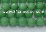 CCN2031 15 inches 8mm faceted round candy jade beads wholesale