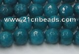 CCN2045 15 inches 8mm faceted round candy jade beads wholesale