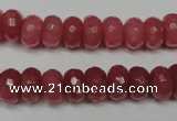 CCN2127 15.5 inches 6*10mm faceted rondelle candy jade beads