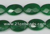 CCN2210 15.5 inches 13*18mm faceted oval candy jade beads