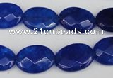 CCN2213 15.5 inches 13*18mm faceted oval candy jade beads