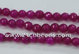CCN2293 15.5 inches 4mm faceted round candy jade beads wholesale