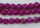 CCN2295 15.5 inches 8mm faceted round candy jade beads wholesale