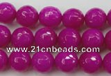 CCN2297 15.5 inches 12mm faceted round candy jade beads wholesale