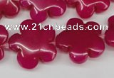 CCN2342 15.5 inches 20mm carved flower candy jade beads wholesale