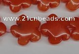 CCN2343 15.5 inches 20mm carved flower candy jade beads wholesale