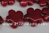 CCN2344 15.5 inches 20mm carved flower candy jade beads wholesale