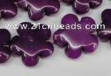 CCN2345 15.5 inches 20mm carved flower candy jade beads wholesale