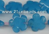 CCN2348 15.5 inches 20mm carved flower candy jade beads wholesale