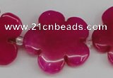 CCN2352 15.5 inches 30mm carved flower candy jade beads wholesale