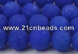 CCN2453 15.5 inches 8mm round matte candy jade beads wholesale