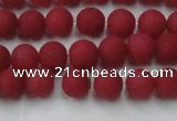 CCN2530 15.5 inches 6mm round matte candy jade beads wholesale