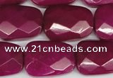 CCN2631 15.5 inches 18*25mm faceted trapezoid candy jade beads