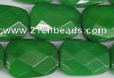 CCN2638 15.5 inches 18*25mm faceted trapezoid candy jade beads