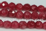 CCN2831 15.5 inches 5mm faceted round candy jade beads