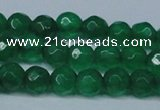 CCN2835 15.5 inches 5mm faceted round candy jade beads