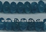 CCN2863 15.5 inches 4*6mm faceted rondelle candy jade beads