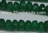 CCN2864 15.5 inches 4*6mm faceted rondelle candy jade beads