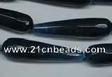 CCN2895 15.5 inches 10*40mm faceted teardrop candy jade beads
