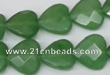 CCN346 15.5 inches 15*15mm faceted heart candy jade beads wholesale